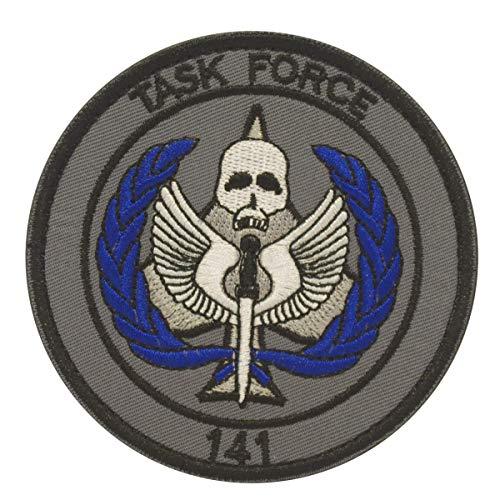 Cobra Tactical Solutions Military Besticktes Patch Taskforce 141 mit Klettverschluss für Airsoft/Paintball für Taktische Kleidung/Rucksack (Security Velcro Patch)