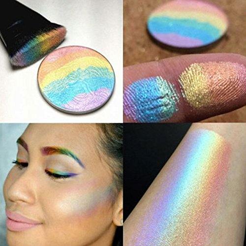 Msmask Contour Highlighter Shimmer Kit Gesicht Make up Blush Rouge Powder Neue gute Schönheit (Halloween-make-up-kits)