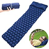 OMZER Inflatable Sleeping Pad, Ultralight Camping Mats For Backpacking Hiking Hammocks Tent With