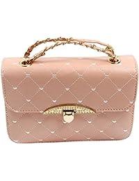 TOOGOO(R) Hot Women's Clutches Fashion Sell Evening Bag Peach Heart Bag Women Leather Handbags Chain Shoulder...