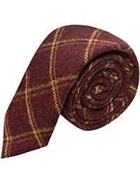 King & Priory Cravate Rouge Chaud Héritage Dans Un Tissu Tissé Doux Au Touché