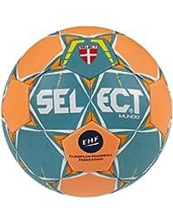 Select Mundo–Balón de balonmano, color türkis/Orange, tamaño 1