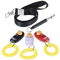 Pchero 3pcs Chien Dressage souple avec dragonne + Sifflet de formation avec sangle en nylon pour animal Clicker Training