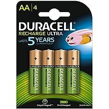 Duracell Recharge Ultra AA Batterie Ricaricabili, confezione da 4