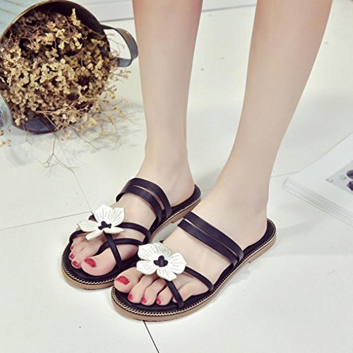 DM&Y 2017 Molla e testa di pesce femmina moda estiva sandali flat scarpe due indossare sandali da donna casuali Black