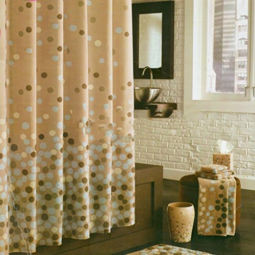 DACHUI Duschvorhang, wasserdichte Schimmel verhindern, dickeres Material aus Polyester Duschvorhang 140x183 cm, 300x200 cm verdickt, warm (Größe: 183 * 200 cm)