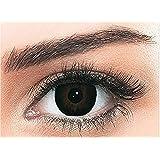 Bella Snow White Unisex Cosmetic Contact Lenses - Black - [ BL-SW-BLK Power 0.00]