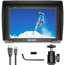 "Neewer NW-T7 Monitor de Campo Cámara 7"" 1080P Admite Entrada HDMI 4K 1920x1200 para Cámara Réflex Digital DSLR SONY A7S II A6500 Canon 5D Mark IV Panasonic GH5 DJI Ronin M y más (Batería NO incluida)"