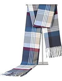 GZXCPC Checkered Modern Warm Soft Dense And Skin-Friendly Men'S Scarf Made Of Artificial Cashmere, 180 * 35cm, Winter, No Wrinkles And Pilling, 5 Colors , 3