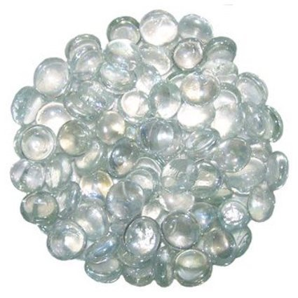 1 Kilo of Decorative CLEAR Round Glass Pebbles 18-20mm
