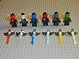 6 Minifiguren Ninjago,mit Djinn Schwerter,NEU
