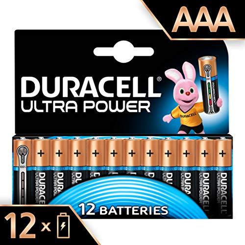 Duracell Ultra Power Alkaline AAA Batterien, 12er Pack Ultra Power Alkaline-batterien