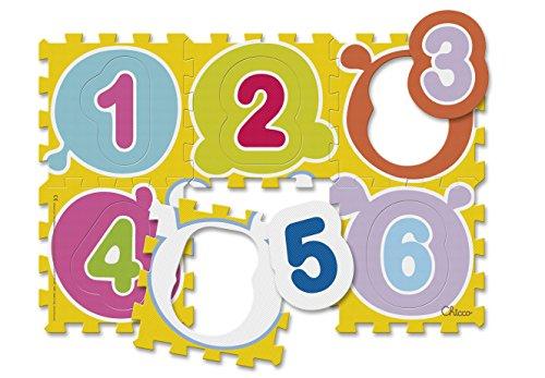 Chicco Puzzle Matten Zahlen, 6-teilig