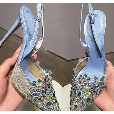 RTRY Donna Scarpe Matrimonio Comfort Glitter Tulle Matrimonio Estate Casual Blue Verde Nero Fucsia 3A-3 3/4In US8 / EU39 / UK6 / CN39