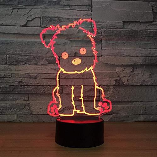 3D Hund Lampe Kinder Nachtlicht Spielzeug LED 3D Tischlampe Touch 7 Farben Licht LED Blink Party Dekorationen Für Zuhause Geschenk