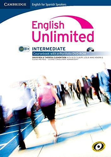 English unlimited for spanish speakers intermediate coursebook with e-portfolio (Edición para España)