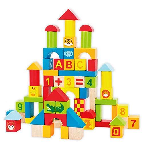 LIULAOHAN Lernspielzeug for Kinder, 100 Blöcke kreativer Zusammenstellung, 12 Karten, 24 Referenzbilder, Verbesserung der digitalen Wahrnehmung und Kreativität (Der Verbesserung Kreativität)