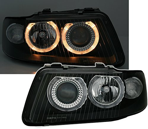 Preisvergleich Produktbild AD Tuning GmbH & Co. KG 960354 Angel Eyes Scheinwerfer Set,  Klarglas Schwarz