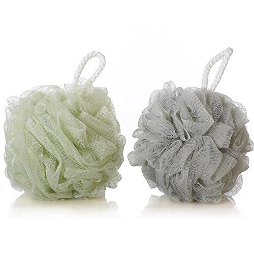 LeRan Gesunde Massage BadeschwämmeSoft Körper zurück Duschkugel Bade Puff (2 Stück,zufällige farbe)