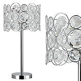 [lux.pro] Tischleuchte - Dora - (1 x E27 Sockel)(45cm x Ø 26cm) Tischlampe Nachttischlampe Schreibtischlampe