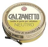 Calzanetto, Lucido per calzature in Scatoletta, in pasta dura, con cere pregiate, in salute e bellezza, colore Neutro, 50 ml