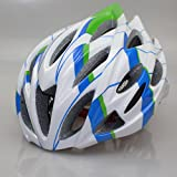 Matry-043 Integralmente stampato EPS Cappello rimovibile Casco da bicicletta Ciclo Casco - Unisex Bici da corsa Casco ciclismo bicicletta con visiera smontabile e liner regolabile Thrasher ( Color : Blue and green )