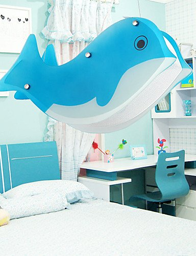 artistiche lampade a sospensione in vetro con 2 luci delfino caratterizzato