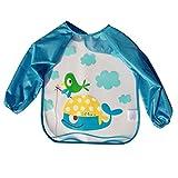 Frbelle Wasserdichte Malschürze Wasserdichte Ärmellätzchen Mantel Cartoon Drucken Malkittel Langarm Kinder Mädchen Jungen 1 2 3 Jahre