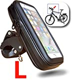 "WESTIC FT-18L Lenkertasche wasserdicht Handyhalterung Fahrrad Motorrad Rahmentasche Halterung Schutzhülle bis 5,5"" Display kompatibel für Smartphone Handy Navi GPS Apple iPhone Samsung Galaxy etc."