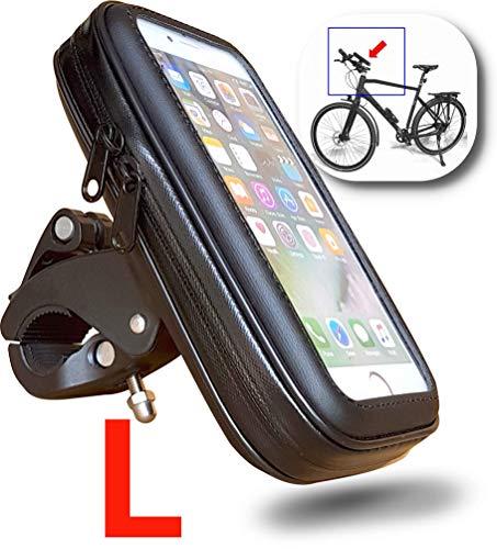"""WESTIC FT-18L Lenkertasche für Fahrrad Motorrad Rahmentasche Handyhalterung wasserdichte Schutzhülle bis 5,5\"""" Display, passend für Smartphone Navi GPS Apple iPhone Samsung Galaxy etc."""