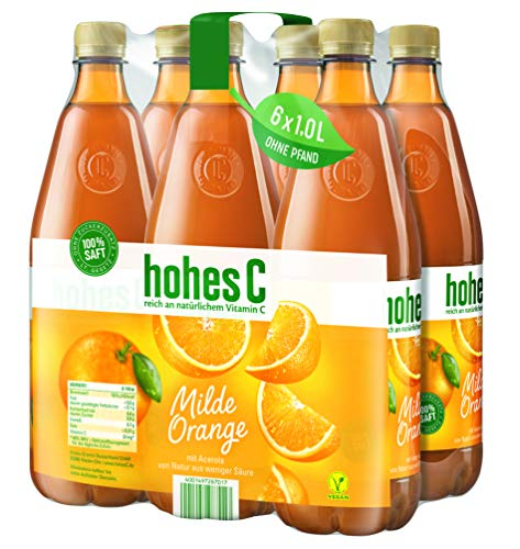 Hohes C Milde Orange - 100% Saft, 6er Pack (6 x 1 l)