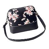 Longra Le donne di stampa della borsa a tracolla in pelle Bauletto Messenger (Nero_A) - Longra - amazon.it