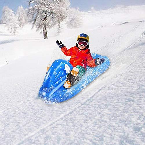 haodene Aufblasbares Skiboot Für Kinder Aufblasbare Ski Aufblasbarer Schneerohr Mit Einem Griff Ist Es Langlebig Und Ermöglicht Ihrer Familie Das Skifahren Zu Genießen. Pleasure