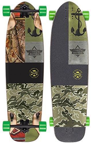 Dusters 10531142 Shooter Longboard Skateboard, Kryptonics Green, 36 by Dusters