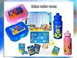 Tinti Lunchbox mit Trinkflasche & Badespaß, Kinder-Pflege-Bade-Set, rosa oder blau sortiert