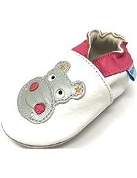 MiniFeet Premio Scarpe Bambino in Morbida Pelle, Prime Scarpe da Passeggio - 0-6 Mesi - 3-4 Anni