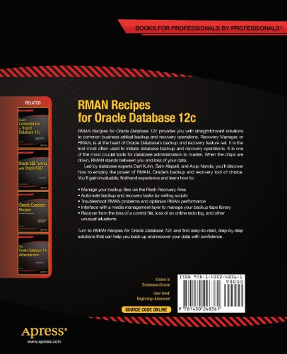 RMAN Recipes for Oracle Database 12c: A Problem-Solution Approach (Recipes Apress)