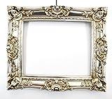 Bilderrahmen im Barockstil Silber 60x70/ 40x50 cm (Antik) Im Retro-Vintage look. In Handarbeit hergestellt für Künstler, Maler. Idealer Gemälde-Rahmen für Ausstellungen STAR-LINE®