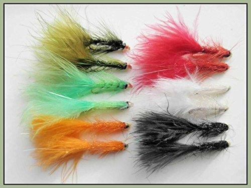 12Lightening Flash, Conehead Wooly Bugger Trout Fliegen–Gemischte Farbe, Größe 10