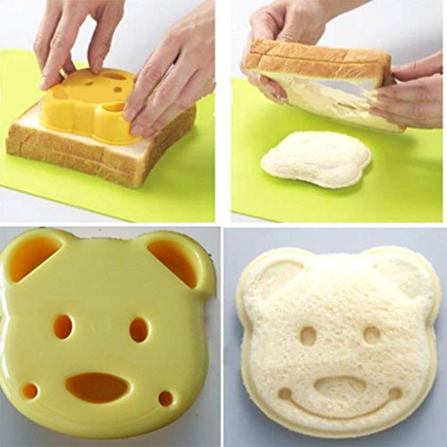 W-top Ausstecher für Sandwiches Kekse Bär, Party Haus Frühstück DIY Karikatur Bären Form Plätzchen-Ausstechform Sandwich Maker Toast Brot Form Werkzeug