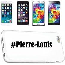 cubierta del teléfono inteligente Samsung S6 Galaxy Hashtag ... #Pierre-Louis ... en Red Social Diseño caso duro de la cubierta protectora del teléfono Cubre Smart Cover para Samsung Galaxy Smartphone … en blanco ... delgado y hermoso, ese es nuestro hardcase. El caso se fija con un clic en su teléfono inteligente
