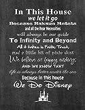 Artylicious Disney-Poster stampa foto di qualità-Made in USA-Disney Family House Rules-Telaio non incluso