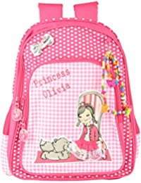 Friend Agencies Nylon 20 Liters Pink School Backpack (FA010)