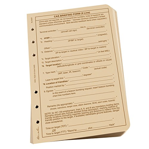 rite-in-the-rain-all-weather-loose-leaf-paper-4-5-8-x-7-32-tan-cas9-line-pattern-100-sheet-pack-no-9