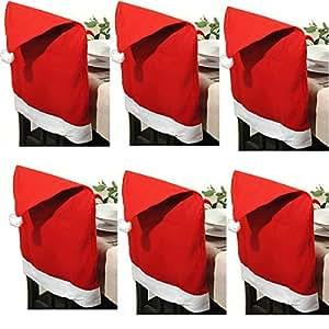 """6 Stück Stuhlhussen """"Weihnachtsmütze"""""""