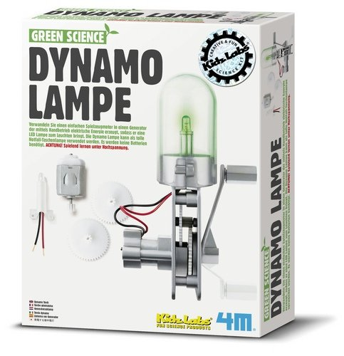 4M - 663263 - Green Science - Torche À Dynamo