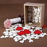 Homemaxs 130 Stücke Herz Holz Scheiben für Geschenkbox DIY enthalten Holz Herzform Scheiben und rote Scheiben für Hochzeit, DIY Craft Verzierungen … Vergleich