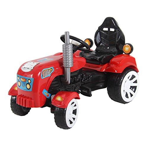 Kindertraktor Maxi 90cm Trettraktor Tretauto Tretfahrzeug Fahrzeug Spielzeug Kinder (rot)