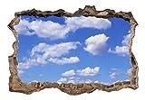 3D WANDILLUSION murando 210x150 cm Wandbild - Fototapete - Poster XXL - Loch 3D - Vlies Leinwand - Panorama Bilder - Dekoration - Himmel c-C-0105-t-a