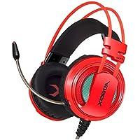 Gaming Headset XIBERIA V10 cuffia professionale USB con controllo del volume del microfono Toggle LED (Red)